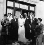 Martesa e Teftës me Kriston, 1940: Liria me Artanin në duar, Aleko, Lenka, Tefta, Kristo, Luiza, Gaqo, Koço